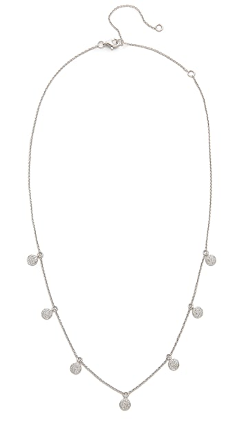 Shay 18k White Gold Pave Diamond Dangle Drop Necklace
