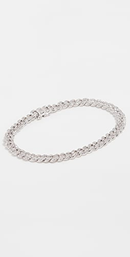 SHAY - 18k White Gold Mini Pave Link Bracelet