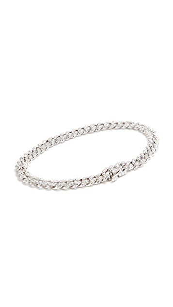 Shay 18k White Gold Mini Pave Link Bracelet