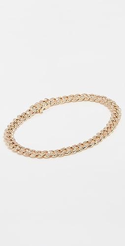 SHAY - Mini Pave 18k Gold Link Bracelet
