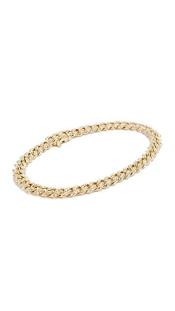 Shay Mini Pave 18k Gold Link Bracelet