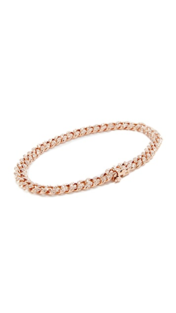 Shay 18k Rose Gold Mini Pave Link Bracelet