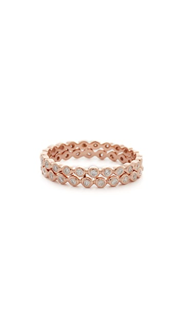 Shay Double Row Diamond 18k Gold Eternity Ring
