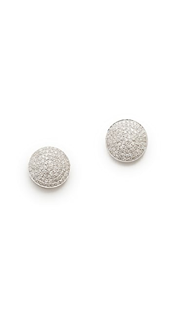 Shay 18k White Gold Essential Round Pave Diamond Stud Earrings