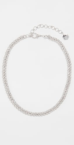 SHAY - 18k Mini Pave Link Choker Necklace