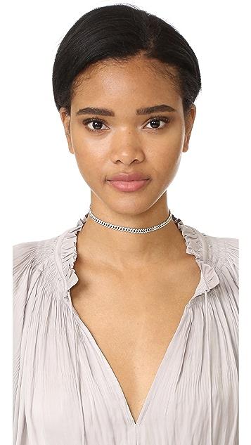 Shay Mini Pave Link 18k Gold Choker Necklace