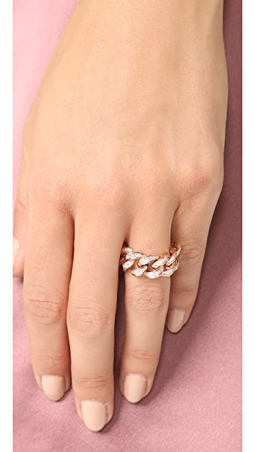 Shay 18k Gold Baguette Diamond Jumbo Link Ring
