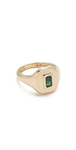 SHAY - 18k Gold Baguette Essential Pinky Ring