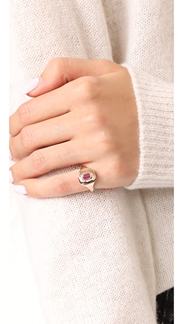 Shay 18k Gold Baguette Essential Pinky Ring