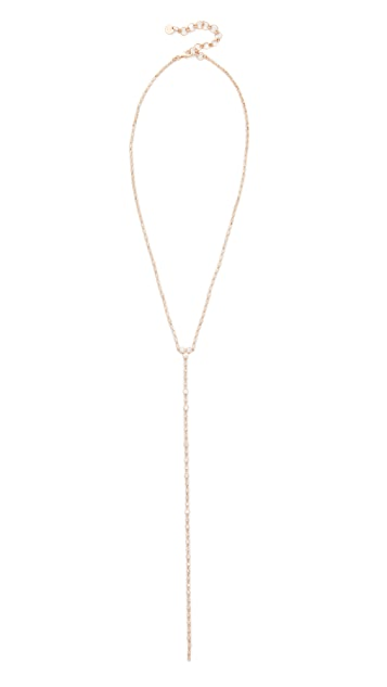 Shay 18k Gold Diamond Infinity Y Necklace - Rose Gold