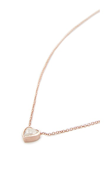 Shay 18k Gold Diamond Solitaire Heart Necklace