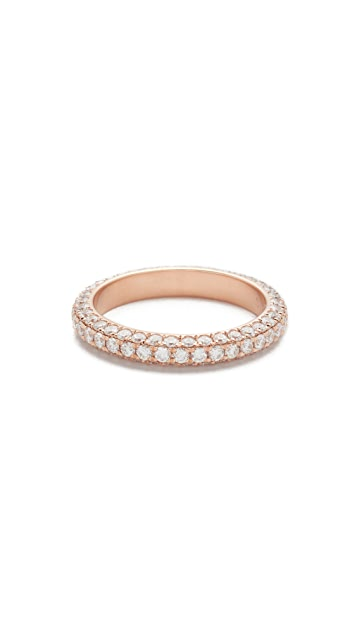 Shay 18k 3 Sided Diamond Eternity Ring