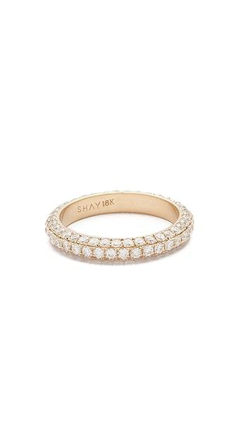 Shay 18k 3 Sided Diamond Eternity Ring