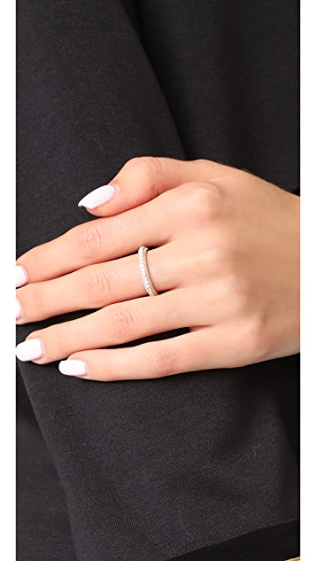 Shay 18k 侧面钻石经典戒指