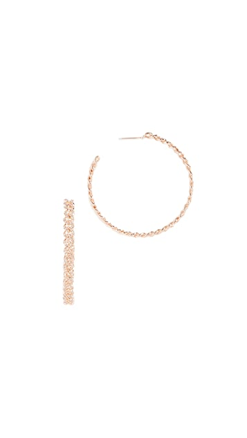 Shay 18k Gold Essential Pavé Link Hoop Earrings