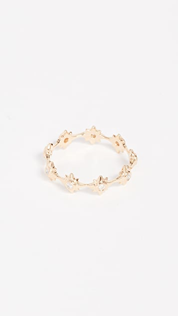 Shay 18k Gold Starburst Eternity Ring