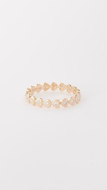 Shay 18k Gold Heart Eternity Ring
