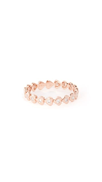 Shay 18k Gold Heart Eternity Ring