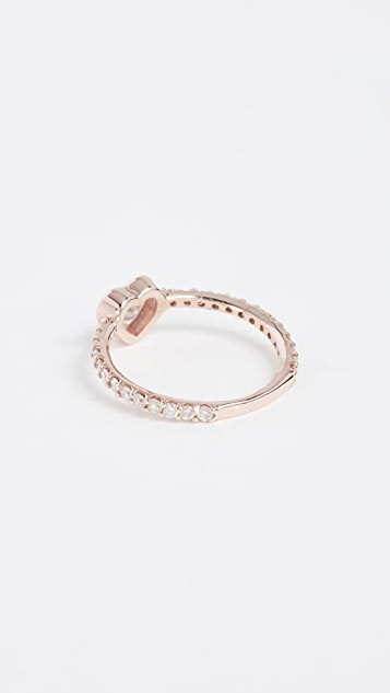 Shay 18k Gold Solitaire Heart Pinky Ring