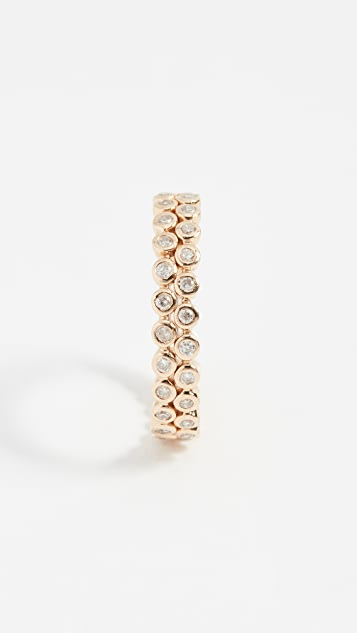 Shay 14k Gold Double Row Diamond Eternity Band