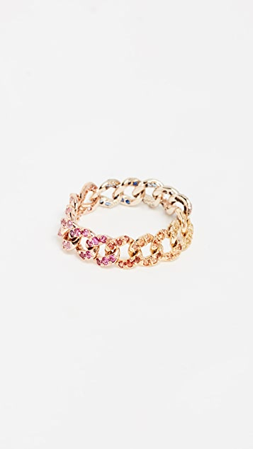 Shay 18k Gold Rainbow Link Ring