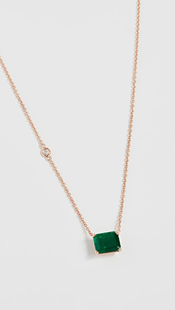 Shay 18k Zambian Emerald Pendant Necklace