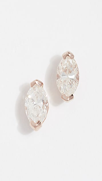Shay 18k Marquise Stud Earrings
