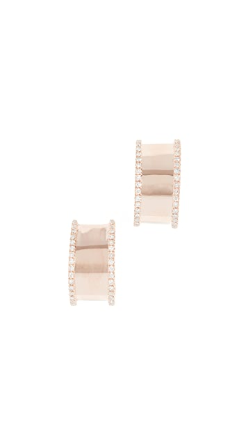 Shay 18K Nameplate Huggie Earrings