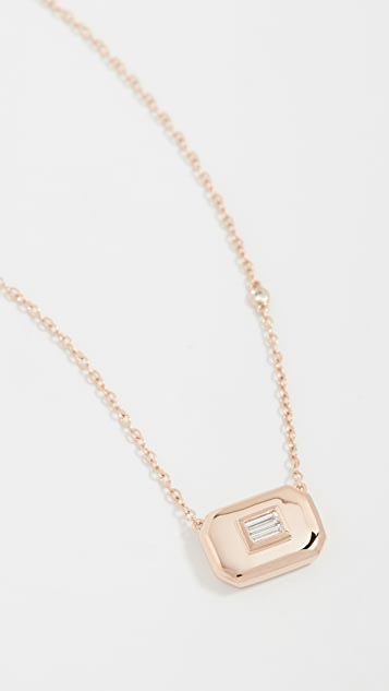 SHAY 18k 基本款长方形钻石项链