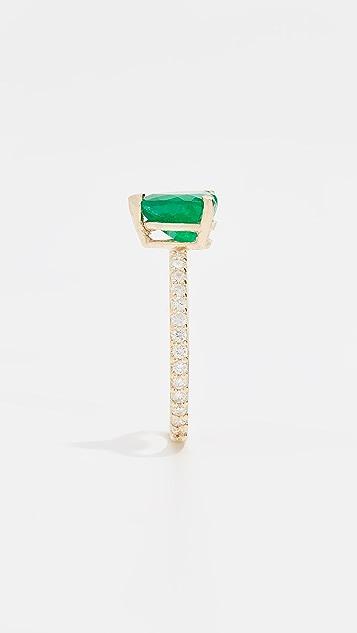 Shay 18k Emerald Heart Pinky Ring