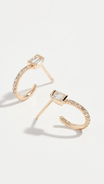 Shay Pace Baguette Hoop Earrings
