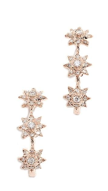 Shay Серьги-гвоздики Triple Starburst из 18-каратного золота