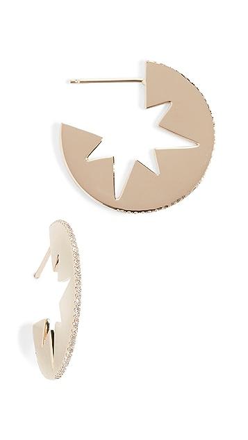 Shay Серьги-кольца Celestial с вырезами