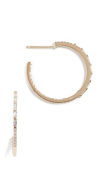 Shay 5 Baguette Small Hoop Earrings