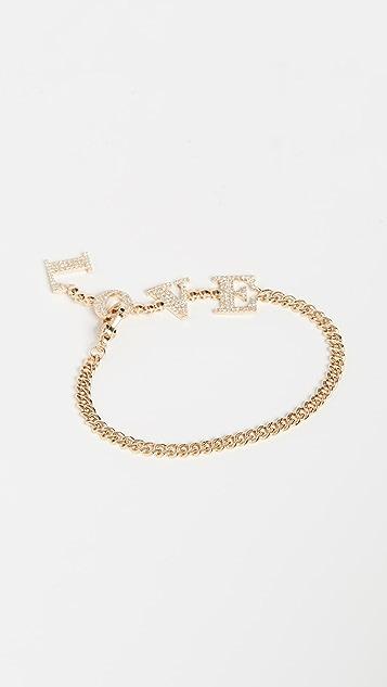 Shay Baby Link Love Drop Bracelet