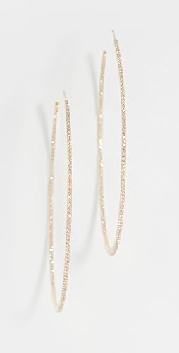 SHAY - 18k XL Pave Diamond Single Row Hoop Earrings