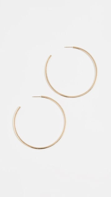 Shay XL Pave Diamond Single Row Hoop Earrings