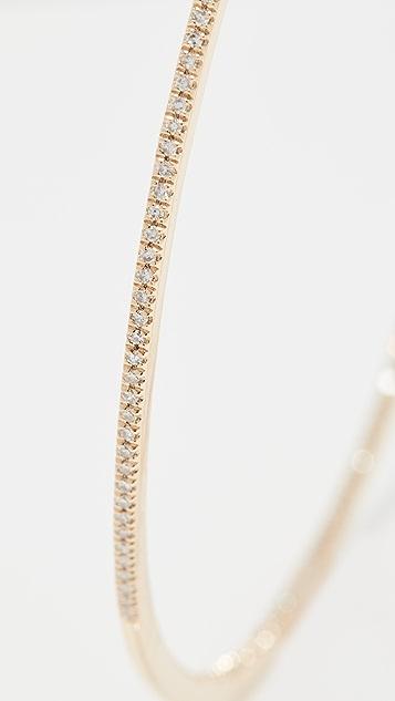 SHAY 18k XL 密镶钻石单排圈式耳环
