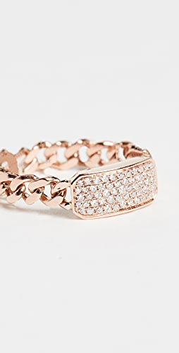 SHAY - Baby Pave ID Link Ring