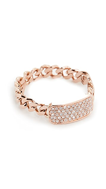Shay Baby Pave ID Link Ring