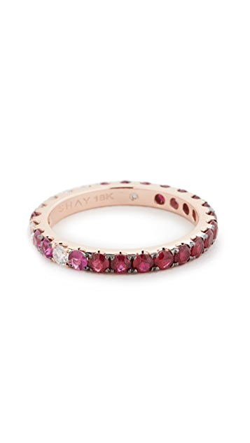 Shay Ruby Ombre Eternity Ring