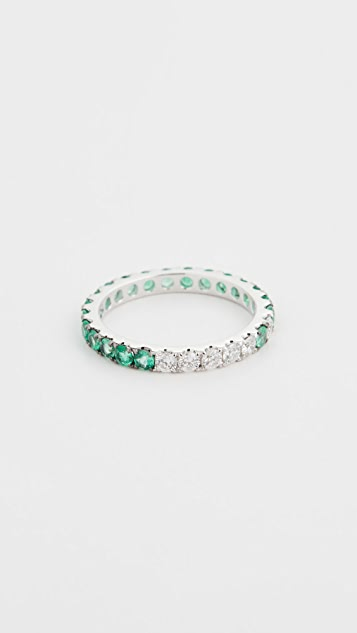 Shay Emerald Ombre Eternity Ring