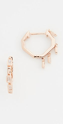 SHAY - 18k Mini Baguette Drop Huggie Earrings