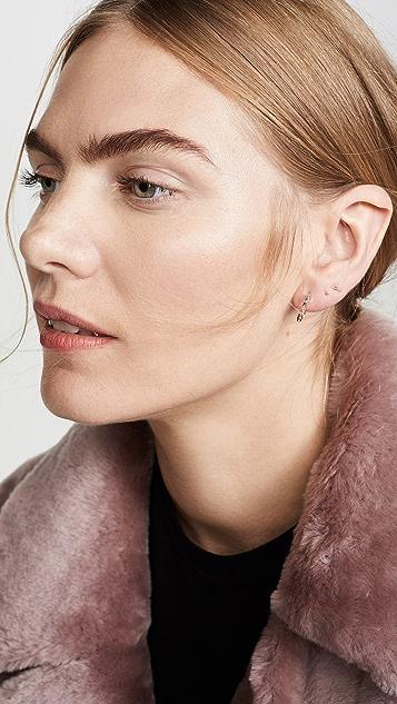 Shay Mini Baguette Drop Huggie Earrings