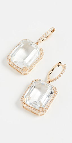 SHAY - 18k Portrait Gemstone Earrings