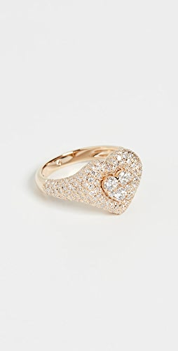 SHAY - 18k Pave Heart Pinky Ring