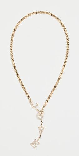 SHAY - 18k Baby Link Love Drop Necklace
