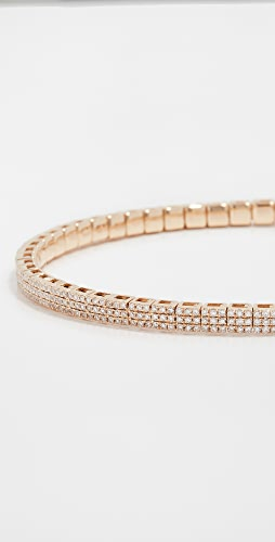 SHAY - 18k Pave Square Stretch Bracelet