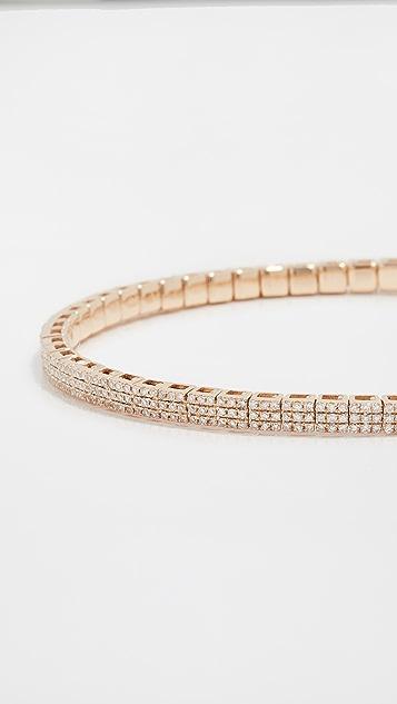 SHAY 18k Pave Square Stretch Bracelet