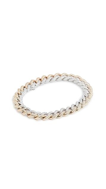 SHAY Two Tone Medium Pave Link Bracelet